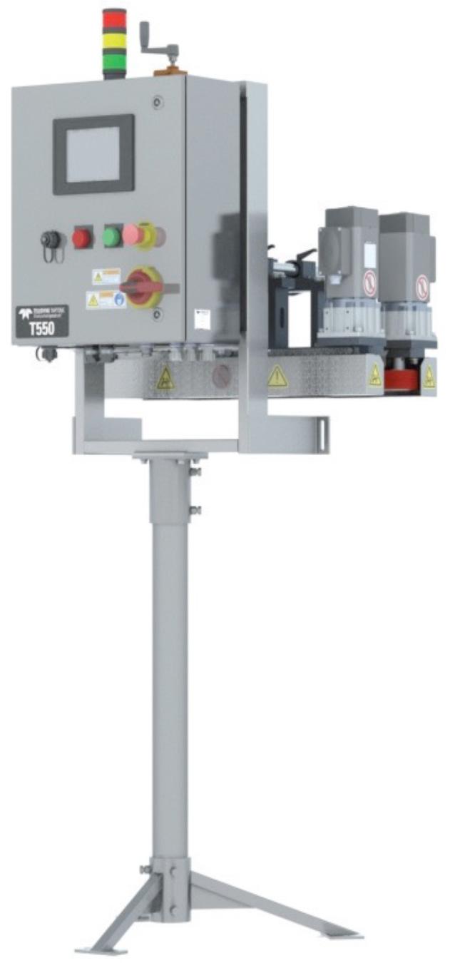 陽圧容器用 触圧検査機T550F