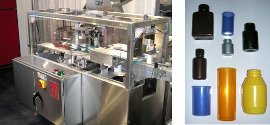 小型プラスチック容器整列装置